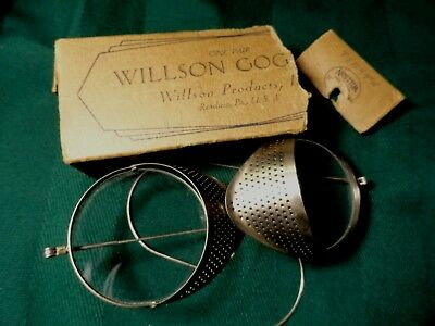 Vintage Willson Clear Lenses Goggle  Motorcycle Steampunk 1930s Orig Box