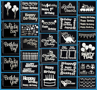 White Chipboard - Birthday - Collection One