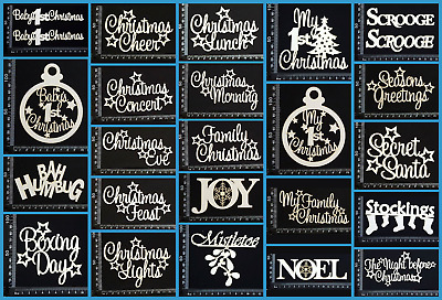 White Chipboard - Christmas - Collection Two