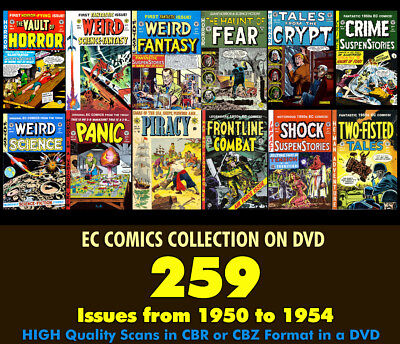 EC Comics 259 Issues Complete Collection 1950-1954 on DVD w/ Custom Case & Cover
