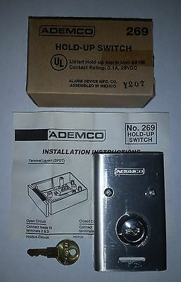 NEW Ademco 269 Hold-Up Switch - Key is to Reactivate