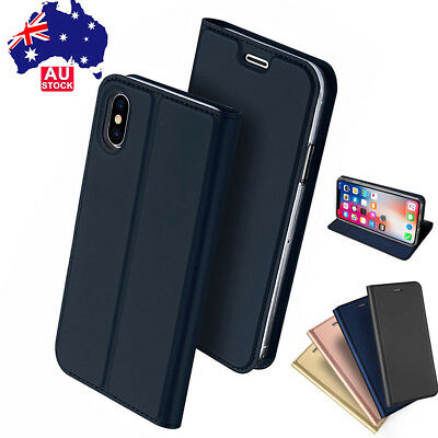 iPhone XS Max Wallet Case Magnetic Flip Leather Card Solt Stand Cover For Apple