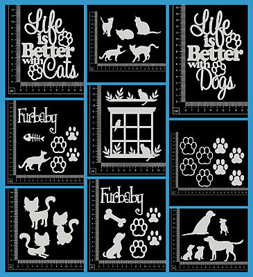 White Chipboard - Pets - Collection One