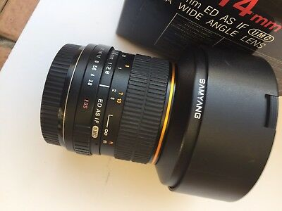 SAMYANG 14mm ULTRA WIDE ANGLE F2.8 ED AS IF UMC CANON MOUNT