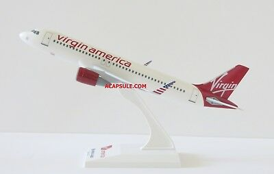 Skymarks Virgin America (Sharklet Verison) A320 1/150 Scale Plane with Stand