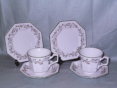 Johnson Brothers Eternal Beau 2 Cups, Saucers & Side Plates  (2 Trios)