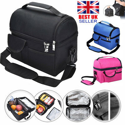 8L Insulated Lunch Bag Coolbag Work Picnic Adult Kids Food Storage Lunchbox UK