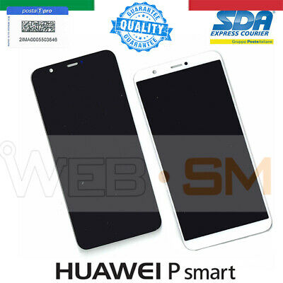 Display Lcd Touch Screen Vetro Ricambio Huawei P Smart Fig-Lx1 Psmart Bianco Ner