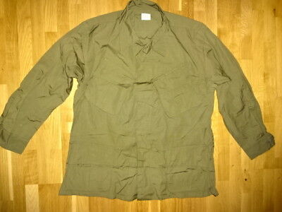 US ARMY Large TROPICAL COAT RIPSTOP POPLIN OG-107 SPECIAL FORCES JACKE VIETNAM