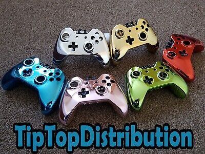 XBOX ONE CHROME DIPPED ELECTROPLATED CONTROLLER SHELLS 3.5mm Jack VERSION Mods z