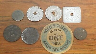 8 State Tax Tokens  L233