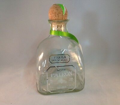 Empty 1.75L Patron Bottle