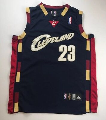 pretty nice 3d895 5ba72 LEBRON JAMES CLEVELAND Cavaliers Sewn authentic Adidas alternate jersey, 48