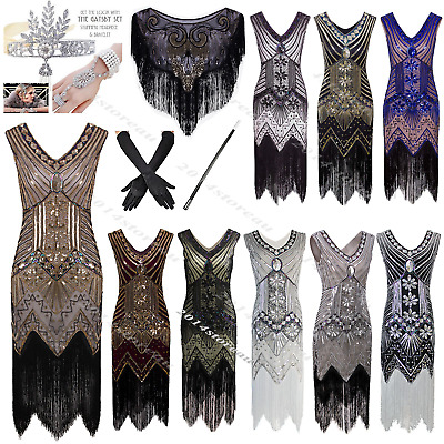 1920s Flapper Dress Great Gatsby 20's Fancy Downton Costumes Halloween Christmas