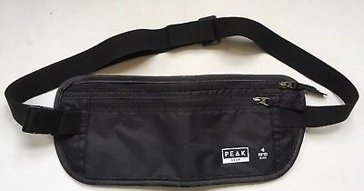 Travel Money Belt with Built-in RFID Block, Comfortable, Expandable, Black
