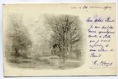 CPA - Carte Postale - France - Lille - Square Jussieu - 1900 (SV6138)