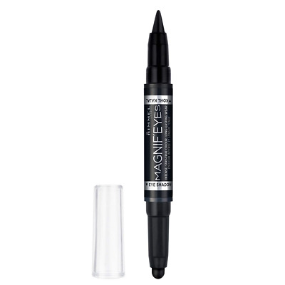 Rimmel London Magnif'Eyes Double Ended Eyeshadow and Liner 001, Back to Blacks,.