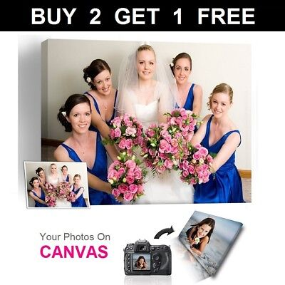 Personalised Photos on Canvas Art Prints Framed A0 A1 A2 A3 A4 A5 Ready to Hang-