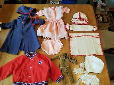 True Vtg LOT 14  Baby Doll Clothes Medium To Large Dolls 1950's & Before