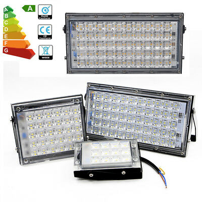 10/2/1x Day White LED Floodlight 10W 30W 50W Security Flood Lights Outdoor Lamps