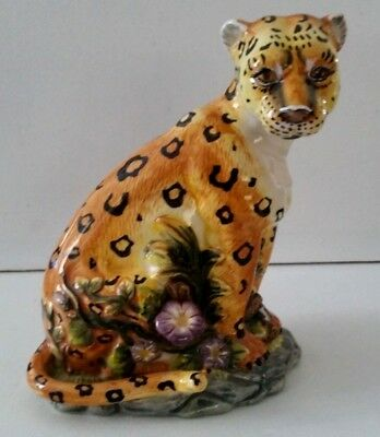 The Safari Collection~LEOPARD~CERAMIC~7.5 Inches Tall~No Chips-Cracks-Repairs