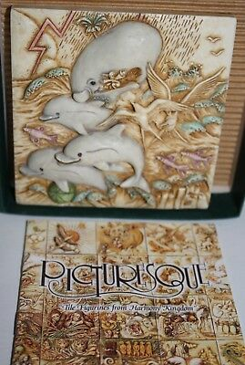 Harmony Kingdom Picturesque Noah's Park Dolphin Downs Magnetic Tile