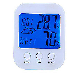 Yuhuaze Digital Luminous Indoor Thermometer, Temperature and Humidity Monitor