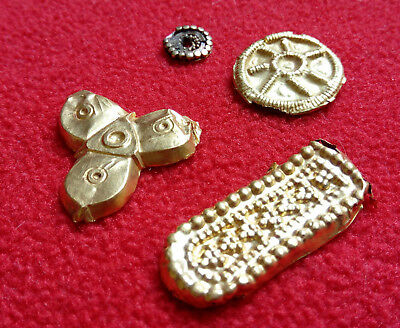 Antique gold Antique treasure. Metal detector finds.Collection of antique gold