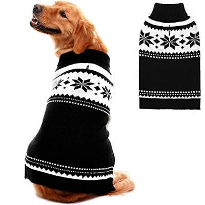 Mihachi Dog Sweater - Winter Coat Apparel Clothes with Colorful Stripes for Cold