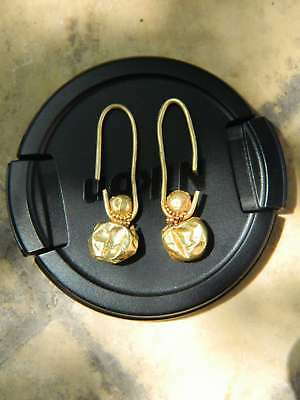 Ancient gold. Metal detector finds,Ancient  gold earrings 100% original