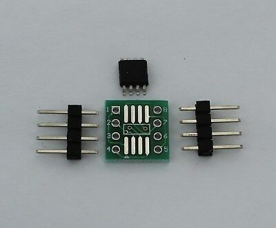ATTINY85 20SU SMD with SOIC8 Breakout Board and Headers USA Comb Ship