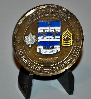 US Army 2nd Battalion 306th Field Artillery Training Support Challenge Coin