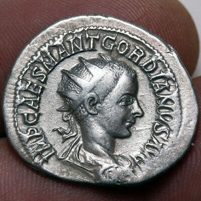 Fortvna Redvx Coins Roman Imperial (235-476ad) Roman Coin Silver Antoninianus Gordian Iii 238-244 Ad