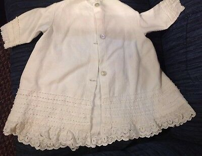 Antique New England Baby/ Child's Coat Handmade Cotton W/ Embellishments