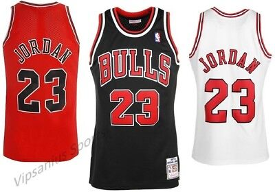 #23 Chicago Bulls Michael Jordan NBA Basketball Jersey - red/white/black S - XXL