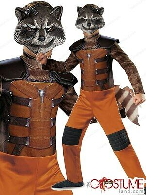 Guardians Of Galaxy Rocket Raccoon Classic Boys Marvel Costume Jumpsuit  Mask