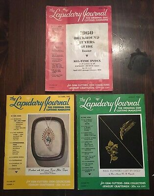 Vintage 1960 The Lapidary Journal Magazines April Buyer's Guide August October