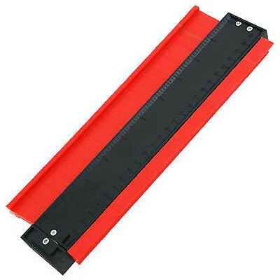 10 Inch 260mm Plastic Contour Metric Imperial Gauge For Tile Fitting Tiling 4371