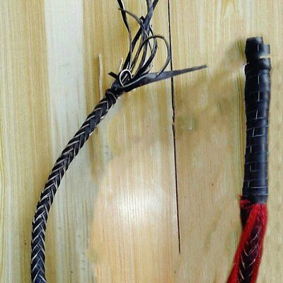 High Quality Hand Made Braided Riding Whips for Horse Racing Genuine Bull Leathe