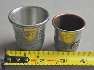 (2) Sheffield Pewter Just A Thimble Full Shot Glass White Sulfur Springs  lot 2