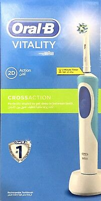 Oral-B Vitality Cross Action Electric Rechargeable Toothbrush & Timer By Braun