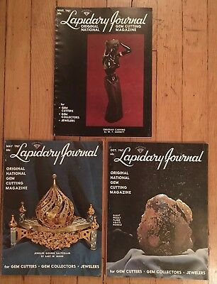 The Lapidary Journal 1967 3 issues Vol 20 Issue 12 March, Vol 21 Iss 2 May 7 Oct
