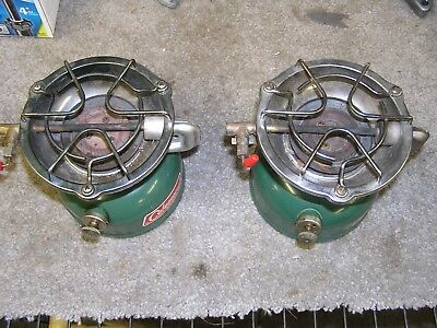 LOT OF 2 Vintage Coleman Camp Stoves Model 502 For Parts Or Repair FREE Ship