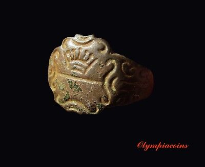 ** EXCELLENT ** MEDIEVAL Bronze  ring ** ADJUSTABLE SIZE **