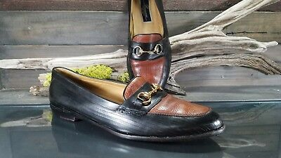 5d47f40ca7f BRAGANO Cole Haan Italy Mens Sz 13 M Horse Bit Loafers Leather Dress Shoes  VTG