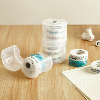 Portable Washi Tape Dispenser Paper Tape Cutter Roll Tape Holder Case Box AU