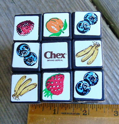 Vintage CHEX RUBIX CUBE Mail Order Cereal Premium in box Ralston Purina 1980's
