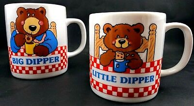 AVON Gift Collection Father Son Mugs BIG & LITTLE DIPPER Bear Donut Cookie CUPS