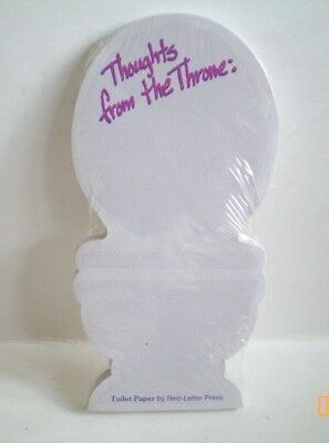 Note Pad Thoughts From The Throne Toilet Shaped Home Office Desk  Gag Gift Idea