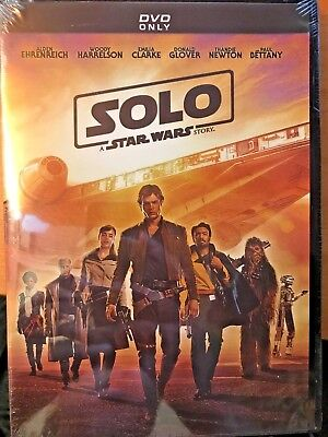 BRAND NEW/SEALED Solo: A Star Wars Story (DVD 2018) FREE/FAST SHIPPING!!